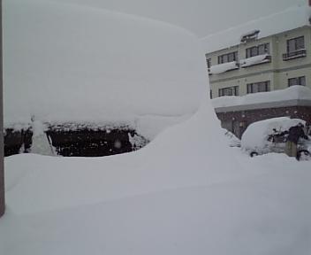 積雪98センチ~♪