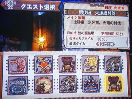 モンハン3:オフ闘技場