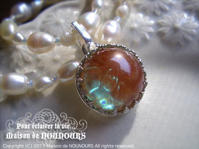 純銀とサフィレットのペンダント ロザリウム