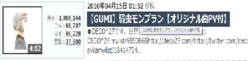 【GUMI】弱虫モンブラン【オリジナル曲PV付】<br />