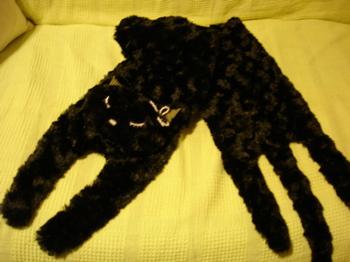 黒猫マフラー