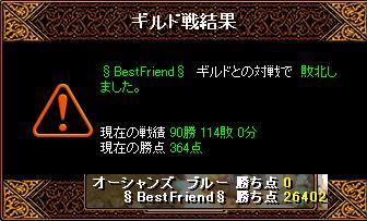 8月21日「BestFriend」結果