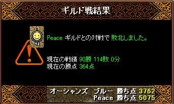 8月23日「Peace」結果