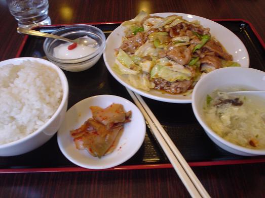幕張の中華料理屋竹園でスタミナ焼肉定食011