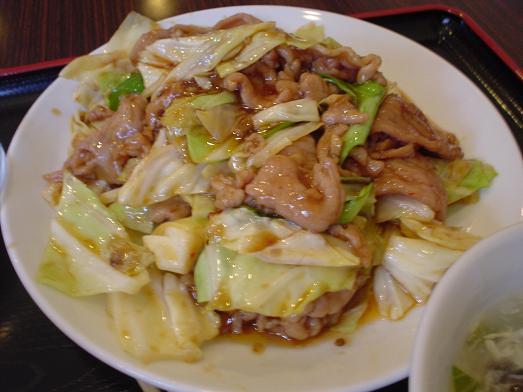 幕張の中華料理屋竹園でスタミナ焼肉定食012