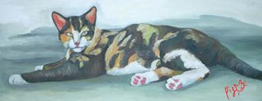 三毛猫の絵2