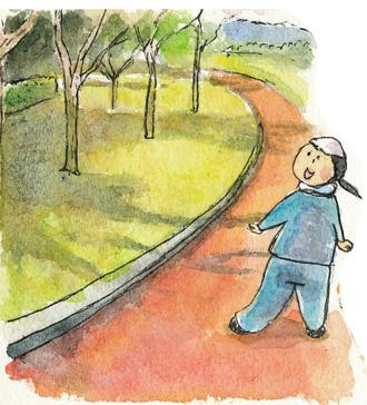 公園で散歩1