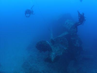 エモンズ沈船ダイビング