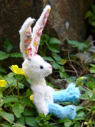 花柄耳のウサギその3