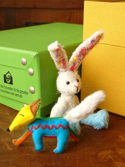 花柄耳のウサギその2