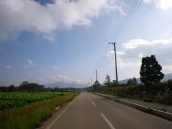 野辺山のレタス畑を見ながらのんびりと