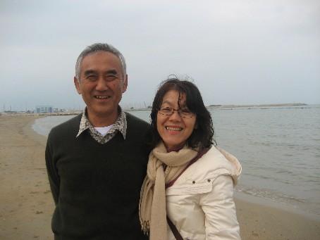 美佐子さん夫婦海岸