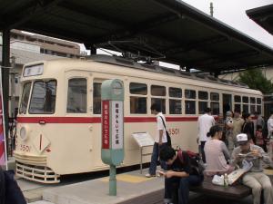 昔の都電車両