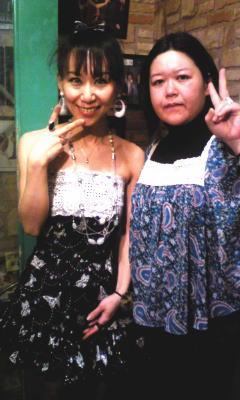 手作りドレスで^^