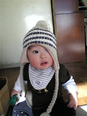 初めての帽子②