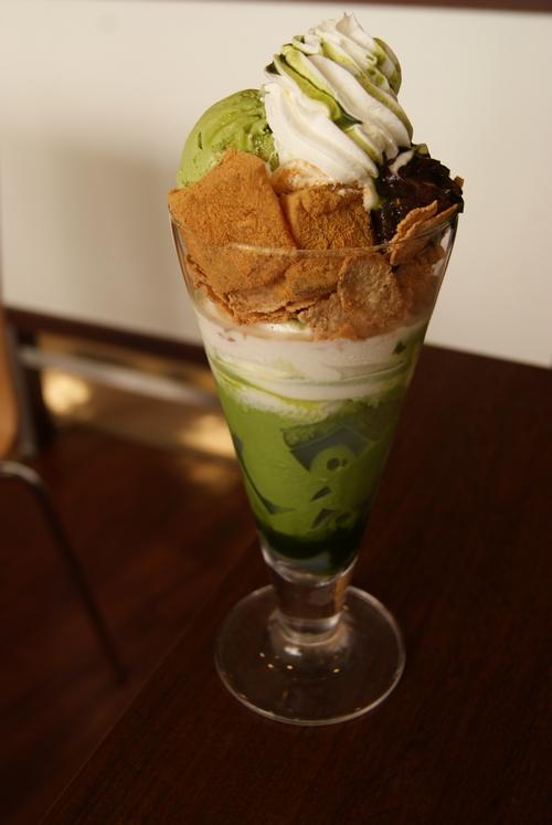 nanas green tea_抹茶わらび餅パフェ