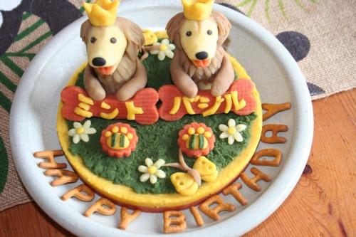 ミントお誕生日ケーキ