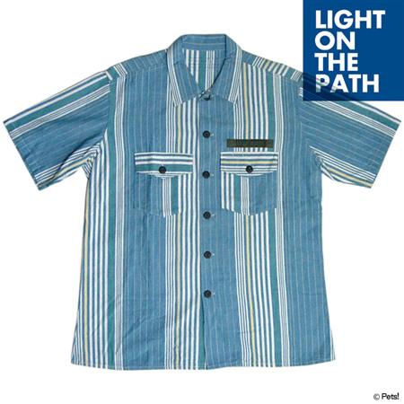 ストライプ トップス シャツ 半袖【メンズ LIGHT ON THE PATH(ライトオンザパス)◆】
