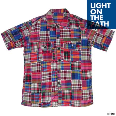 パッチワーク チェック トップス シャツ 半袖【メンズ LIGHT ON THE PATH(ライトオンザパス)◆】