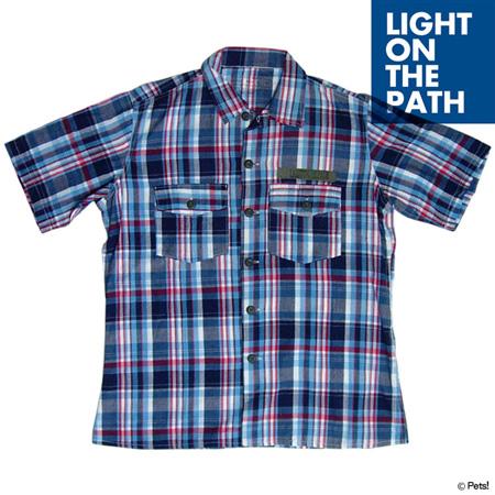 チェック トップス シャツ 半袖【メンズ LIGHT ON THE PATH(ライトオンザパス)◆】