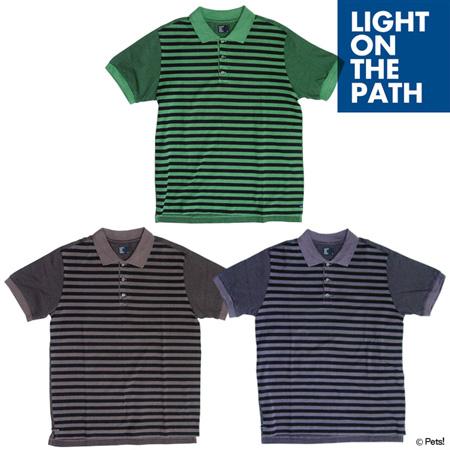 ポロシャツ ボーダー トップス【メンズ LIGHT ON THE PATH(ライトオンザパス)◆】