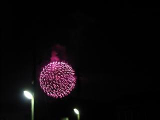 今年最後の花火