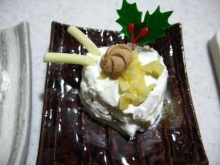 ワンコ クリスマスバージョンケーキ