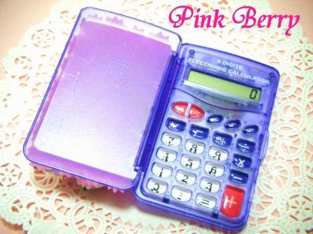 フタを開けた状態のデコ電卓