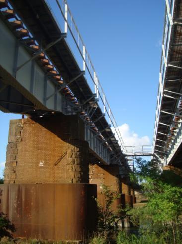 年代モノの鉄橋