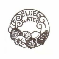 ワッペン・貝BLUE WATER