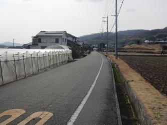 ⑭旧山陽道(直線道路)