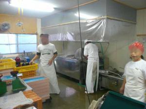 奥の店内 というか製麺所