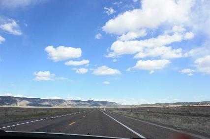 ルート66青い空と雲