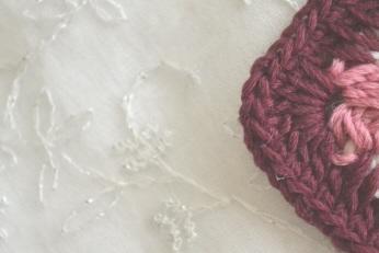 さらっとウールで長編み