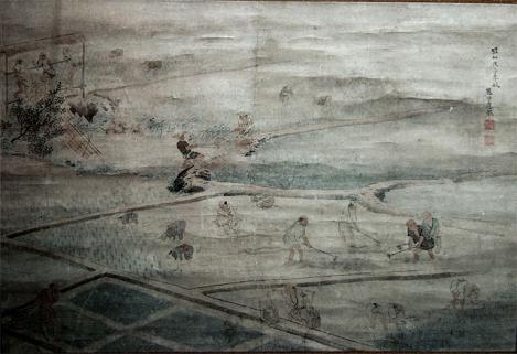 丸山応挙-田植え