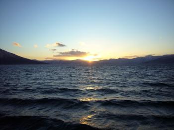 支笏湖夕日1
