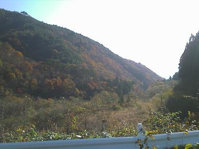 笹谷峠付近