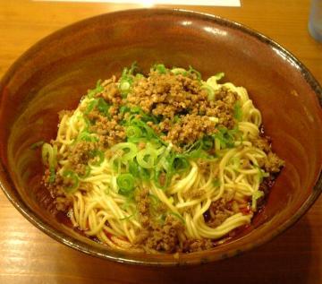 岡山市北区の「虎ぼるた田中店」汁なし坦坦麺