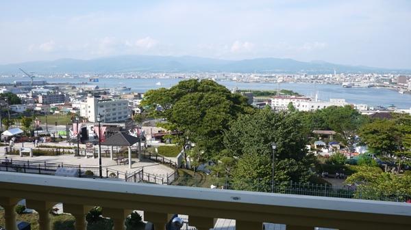 旧函館区公会堂からの景色。