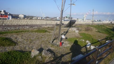 東日本大震災の傷跡 塩釜のがれき