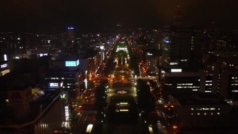 札幌タワーからの夜景