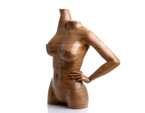 人間の体の形に作られた家具アート - Peter Rolfe