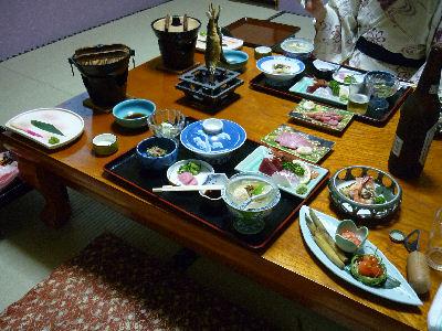 吾妻屋さんの夕食
