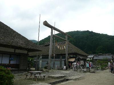 大内宿にある神社の鳥居
