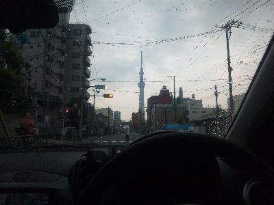 デミオからみる、東京スカイツリー