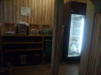 着替えの浴衣と自由に使える冷蔵庫