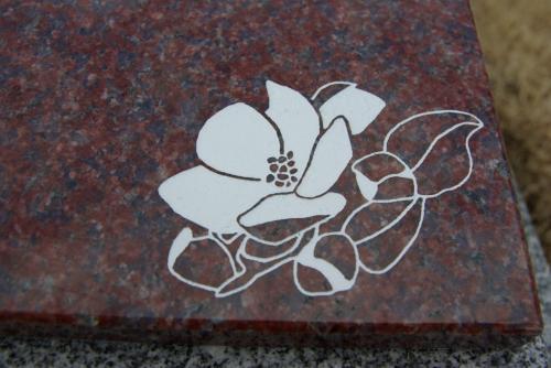 お墓 銘板 りんごの花