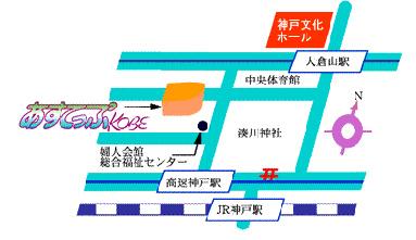 アステップ神戸の地図