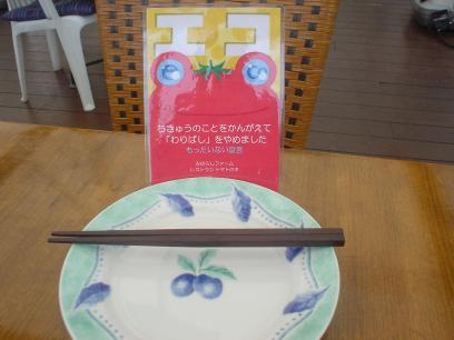 皿と木曽箸