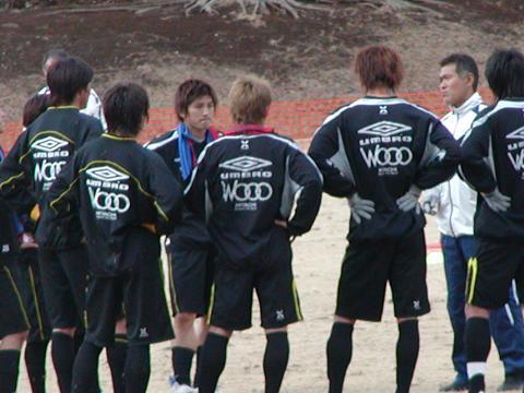練習中 平山選手